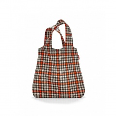 siatka mini maxi shopper glencheck red