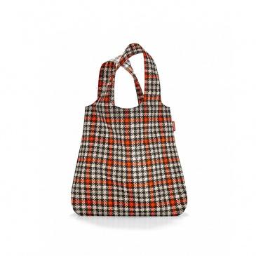 siatka mini maxi shopper glencheck red