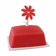 Silikonowa maselcznika kwiat Vialli Design Livio czerwona