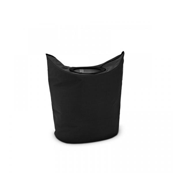 Składany kosz na bieliznę 50l Brabantia Laundry To Go czarny BR 10-16-01