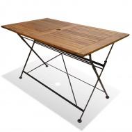 Składany stół ogrodowy z drewna akacjowego, 120x70x74 cm