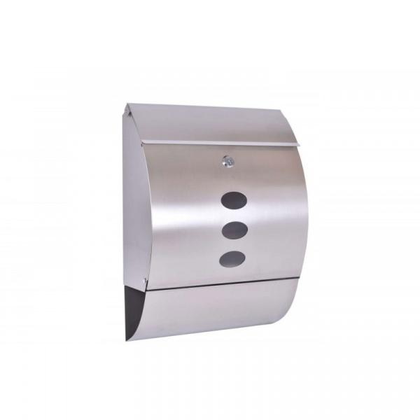 Skrzynka na listy 40x30cm Gockowiak Finn srebrna 5902340311523