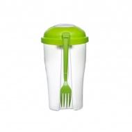 Słoik na sałatę z widelcem i pojemnikiem na sos Sagaform Fresh zielony