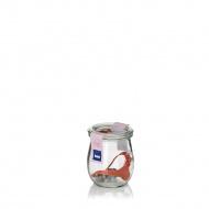 Słoik wek zaokrąglony z pokrywką, gumką i zatrzaskami 220 ml Kela przeźroczysty