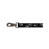 Smycz dla psa taśma 20mm/1,2m Zolux łapka czarno szara