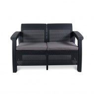 Sofa 128x70x79cm Bazkar Corfu Love Seat antracyt/szary