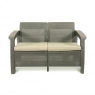 Sofa 128x70x79cm Bazkar Corfu Love Seat Cappuccino/beż