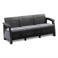 Sofa 182x70x79cm Bazkar Corfu Love Seat Max antracyt/szara