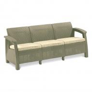 Sofa 182x70x79cm Bazkar Corfu Love Seat Max Cappuccino/beż