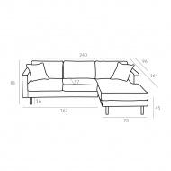 Sofa 81x207x96 cm Maduu Studio Mellow