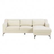 Sofa narożna tapicerowana beżowa GLOSLI