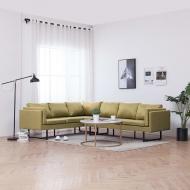 Sofa narożna, zielona, materiałowa