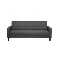 Sofa rozkładana ciemnoszara VEHKOO