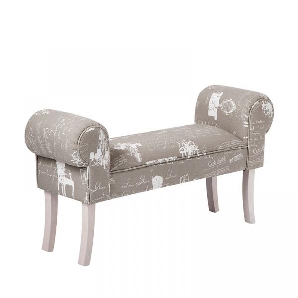 Sofa Schabby Brandani szary 55956