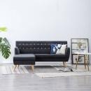 Sofa z kształcie litery L, materiałowa, 171,5 x 138 x 81,5 cm