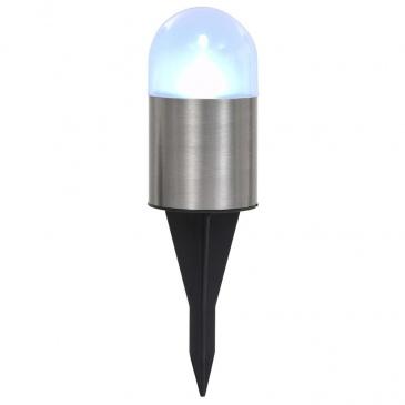 Solarne lampy gruntowe, 12 szt., białe LED