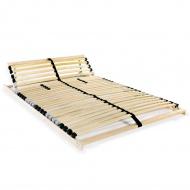 Stelaż do łóżka z 28 listwami, drewno FSC, 7 stref, 140x200 cm