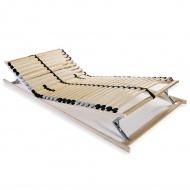 Stelaż do łóżka z 28 listwami, drewno FSC, 7 stref, 70 x 200 cm