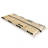 Stelaż do łóżka z 28 listwami, drewno FSC, 7 stref, 80 x 200 cm