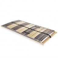 Stelaż do łóżka z 42 listwami, drewno FSC, 7 stref, 100x200 cm