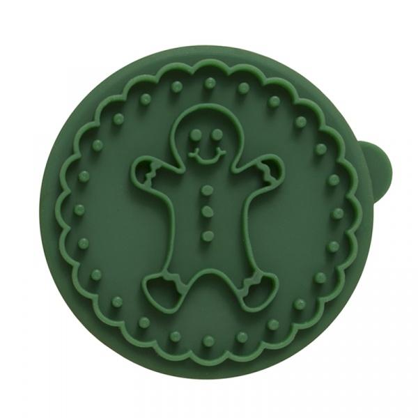 Stempel drewniany do ciastek Piernikowy Ludzik Birkmann Owls zielony 340 275