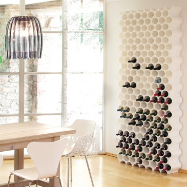 Stojak na butelki biały Set-up