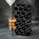 Stojak na butelki czarny Set-up