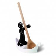 Stojak na łyżkę czarny Koziol Luigi