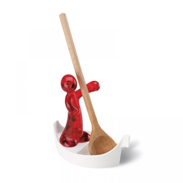 Stojak na łyżkę czerwony Koziol Luigi KZ-3017536