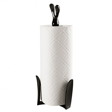 Stojak na ręczniki papierowe czarny Roger