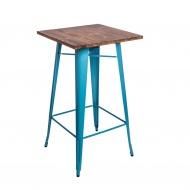 Stół barowy Paris Wood 106x60x60 cm D2.Design niebieski