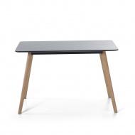 Stół do jadalni czarny 120 x 80 cm FLY II