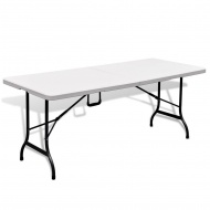 Stół kempingowy biały (180 cm) wykonany z HDPE
