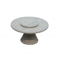 Stół obiadowy z tacą obrotową West 142x142x75 cm