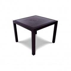 Stół ogrodowy 95x95x75cm Bazkar MELODY QUARTET brązowy