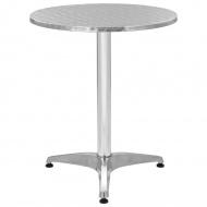 Stół ogrodowy, aluminium, okrągły, 60 x 70 cm