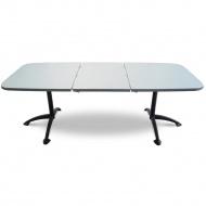 Stół ogrodowy rozsuwany Arioso MFG 155-210cm antracyt/srebrny
