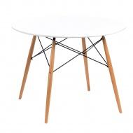 Stół okrągły do jadalni 100cm D2 DTW biały