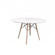 Stół okrągły do jadalni 71cm King Home DSW biały połysk