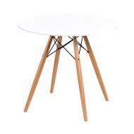 Stół okrągły do jadalni 80cm D2 DTW biały