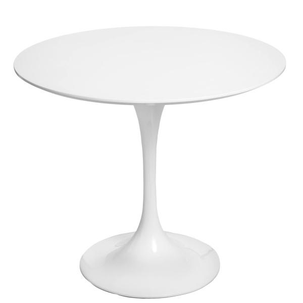 Stół okrągły do jadalni 90 cm D2 Fiber biały DK-64777
