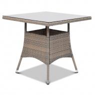 Stół z technorattanu Lugo 80x80 : Kolor - Dolphin Grey