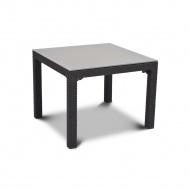 Stół ze szklanym blatem 72x72cm Curver Sumatra antracyt