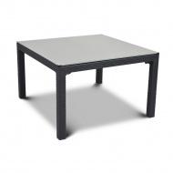 Stół ze szklanym blatem 94x94cm Curver Sumatra antracyt