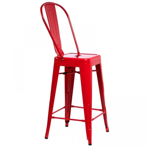 Stołek barowy D2 ParisBack czerwony DK-41435