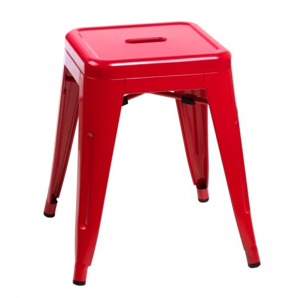 Stołek barowy D2 ParisBack czerwony DK-41377