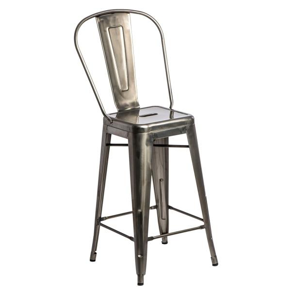 Stołek barowy D2 ParisBack metalowy 5902385714952