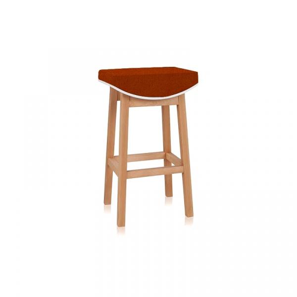 Stołek D2 barowy Toni pomarańczowy 5902385711067