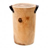 Stołek okrągły 39x51cm Miloo Home Natural Secret natrualny