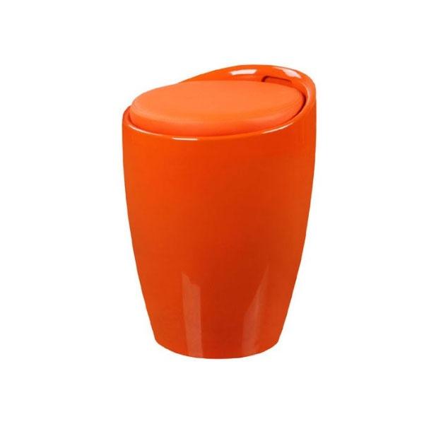 Stołek z koszem na zabawki Tubo King Home pomarańczowy LI-KK-705W.POMARANCZOWY